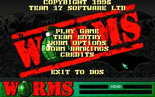Worms' Main Menu (DOS)
