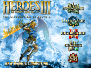 The Heroes III Main Menu (prior to expansions)