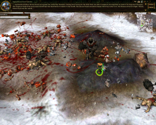 In true Myth tradition, corpses and viscera litter the ground after battles.