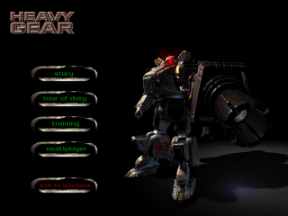 Heavy Gear's Main Menu