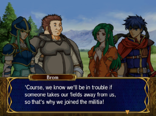 Brom and Nephenee join Elincia's cause