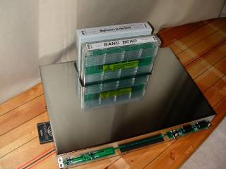 Bare MVS board with typical MVS carts