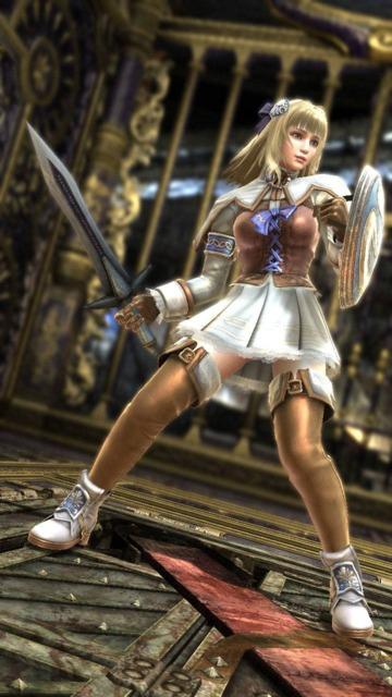 Pyrrha, as she appears in Soul Calibur V.