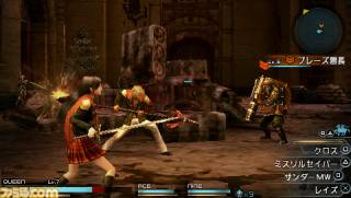 Queen and Nine in battle with an enemy leader.