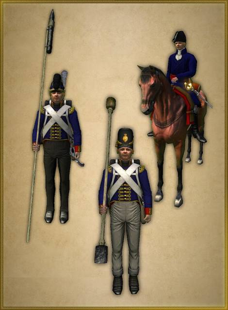 Specialized classes: British Cannoneers, Rocketeers and General *note: these are outdated models