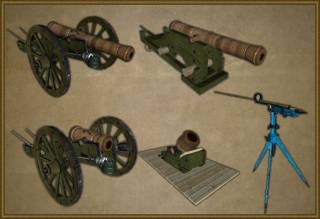 Women fight with swords, men fight with cannon!