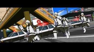 Keisatsu units responding to Rudies