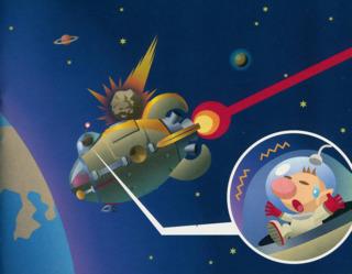 A stray meteoroid strikes the Dolphin