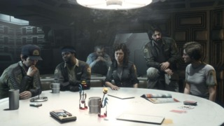 The 'Alien' cast as they appear in the game.