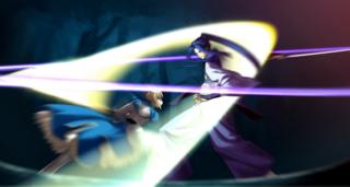 Saber defeats Assassin