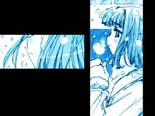 Tomoe waiting for Takuto in the snow