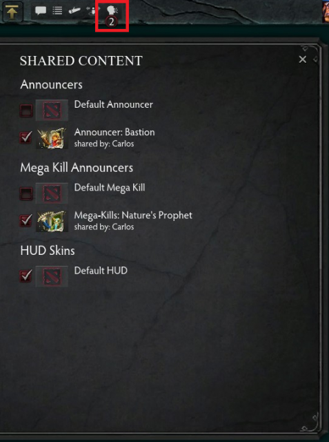 Sharing In-game Content