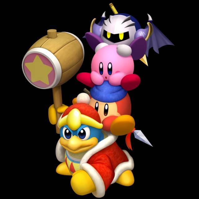 King Dedede, Waddle Dee, Kirby & Meta Knight