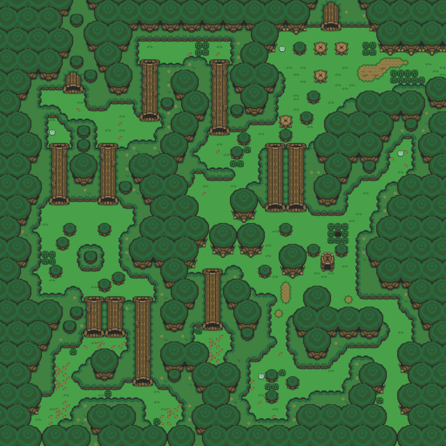 A Link to the Past Lost Woods.