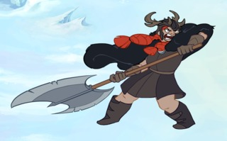 Thora, the Norse warrior protagonist.