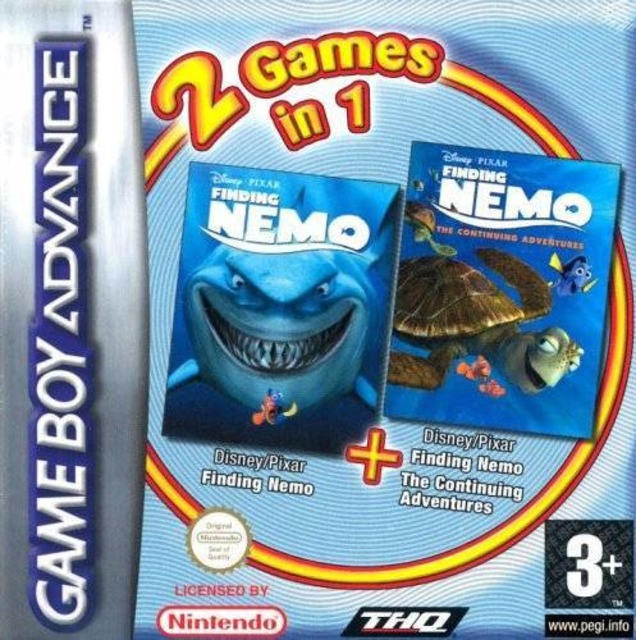 2 Games in 1: Finding Nemo + Finding Nemo: The Continuing Adventures
