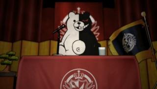 The School's headmaster, Monokuma.