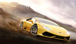 The car featured on the game's box art: the 2015 Lamborghini Huracán