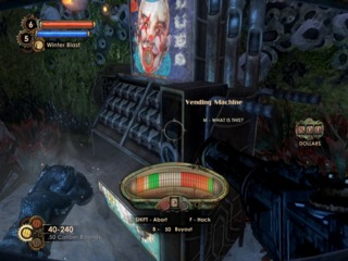 Bioshock 2 poorly simulates the part of the hacking game where the vending machine falls and crushes you.