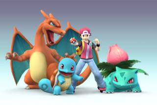 Red with his team of Pokémon