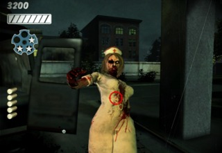 It's a zombie nurse! I think you know what to do.
