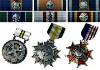 Ribbons & Medals.