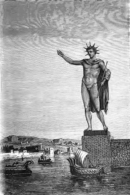 Colossus of Rhodes based on Helios.