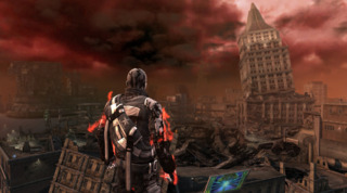 The city falls apart if the player chooses to  be evil