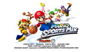 The game's title screen.