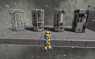 stages of constructing an object in survival mode