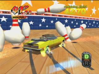 The Crazy Bowling mini-game.