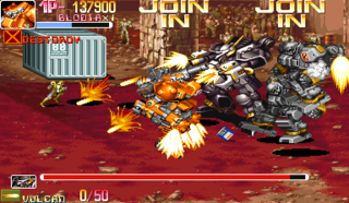 One of the boss fights in the game.