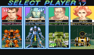 Character select screen.