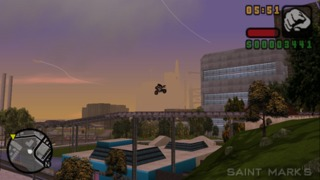 Bikes make for more spectacular stunt jumps in Liberty City.