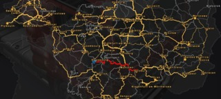 Section of the ETS2 world map (incl. Going East! add-on)