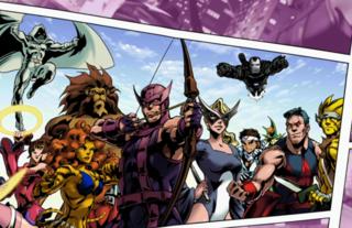 Jin in Hawkeye's ending in Ultimate Marvel vs. Capcom 3