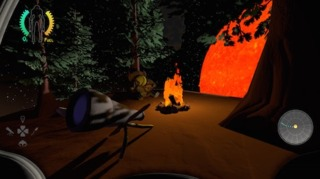 Ahhh, there's nothing like camping at night. A roaring fire, a telescope, the breaching heat of massive sun a few hundred meters away. What a life.