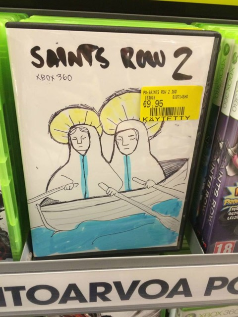 The one thing I'll miss about physical discs are the rad fake covers that GameStop employees make when they're bored.