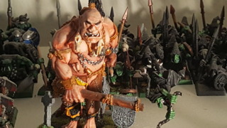 An ogre from Warhammer Fantasy Battles. [Please don't yell at me if this isn't actually an 'ogre' unit. -Austin] [[Update: I've been politely informed that this is a giant. Thank you for your patience.]]