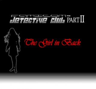 The title card for The Girl in Back.