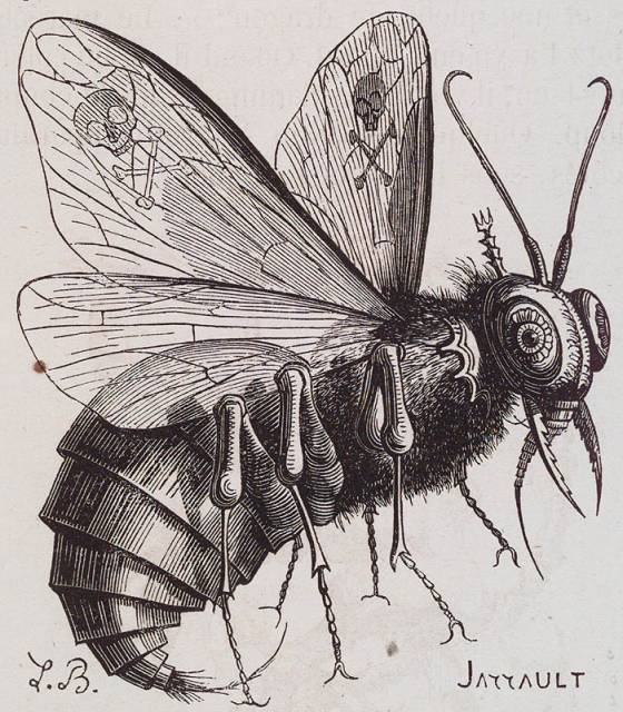 Print of Beelzebub from Dictionnaire Infernal.