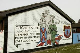 Mural in modern Belfast.