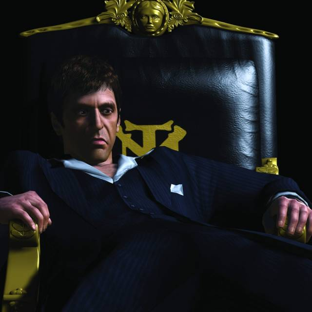 Tony Montana as he appears in Scarface: The World is Yours.
