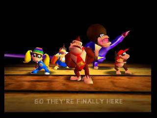 Screen capture from the DK rap