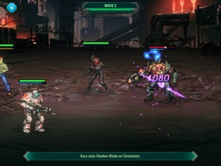 A screenshot of a battle against one of the enemies that appears later in the game.