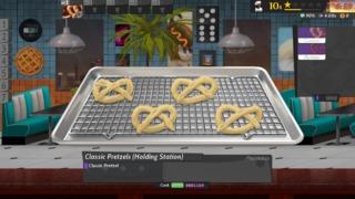 Making Pretzels at a Holding Station