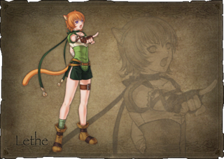 Lethe's character art in Fire Emblem: Radiant Dawn.