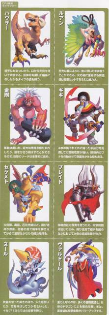 The various Boss characters the player faces in the game.