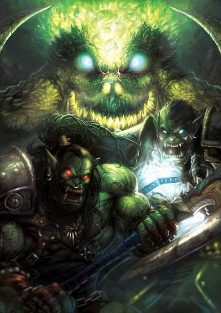 Grom and Thrall, with Mannoroth