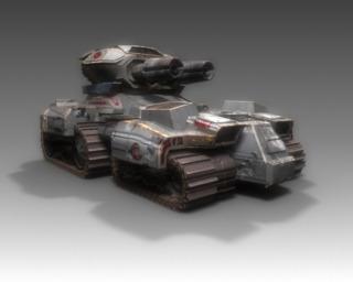 An Arclite Siege Tank